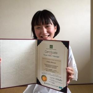 ベビーマッサージ資格合格おめでとう!